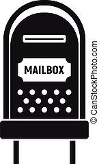 Letterbox icon, simple style - Letterbox icon. Simple ...