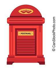 Letterbox or mailbox isolated icon, post office letters ...