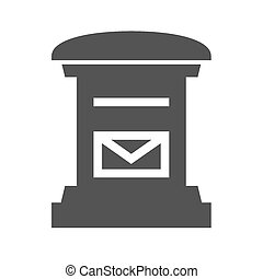 Letterbox, post box, post, postal service icon vector image...