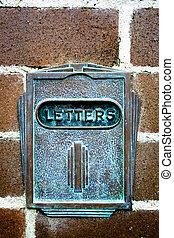 Letterbox in brick