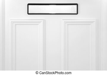 Letterbox on a white door, concepts -...