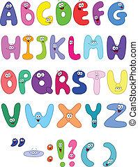 lettere, cartone animato