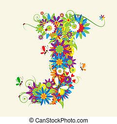 lettere, j, anche, vedere, lettera, floreale, mio, galleria,...