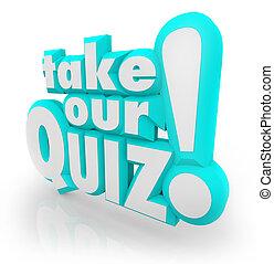 lettere, quiz, prendere, parole, prova, nostro, valutazione, 3d