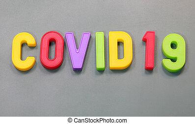 letteres, テキスト, covid19, 磁気