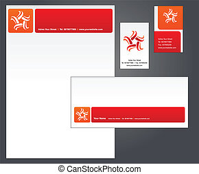 Letterhead template design - 1