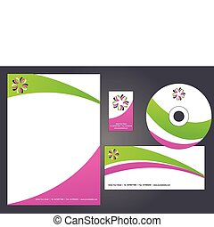 Letterhead template design - 2