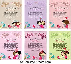Letterhead valentines set