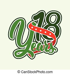 Lettering 18 years