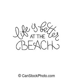 Lettering about beach