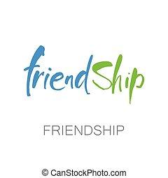 lettering, amizade, modelo