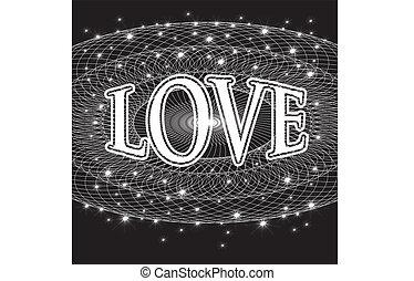 lettering, amor, fundo