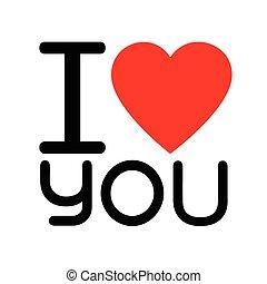 lettering, amor, ilustração, sinal, desenho, tu