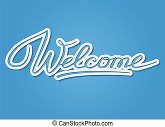 lettering, bem-vindo
