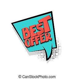 Lettering best offer comic text bubble