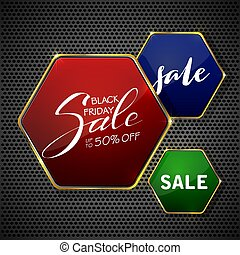 Lettering Black Friday Sale on abstract glowing background