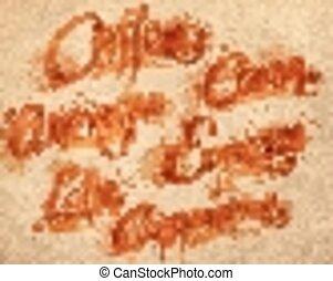 Lettering coffee drops kraft