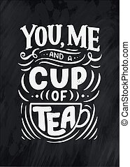 lettering composition with sketch for coffee shop, cafe or prints. Hand drawn vintage typography phrase, quote. Poster