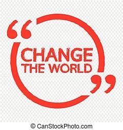 lettering, desenho, mudança, ilustração, mundo