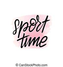 lettering, desporto, tempo