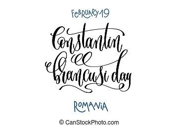 lettering, februari, constantin, 19, -, hand, pomania,...