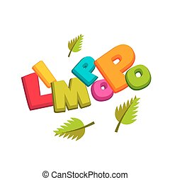 Lettering funny comic colored font Limpopo