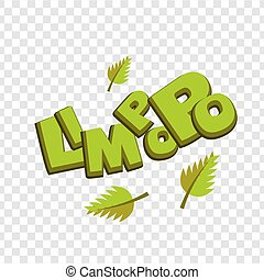 Lettering funny green comic font Limpopo