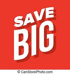 lettering, grande, vetorial, salvar