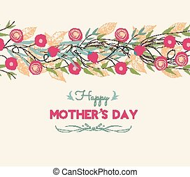 Lettering Happy Mothers Day.