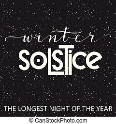 lettering., hiver, solstice