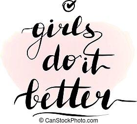 Lettering inscription girls do it