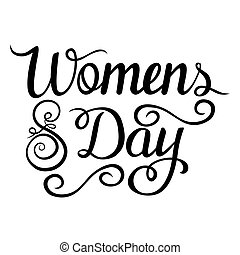 Lettering - Intarnational Womens Language Day for your design