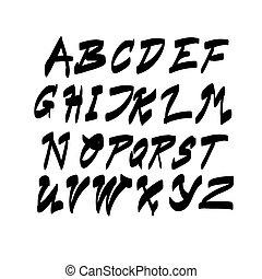 lettering, jogo, letras, texto, cobrança, alfabeto