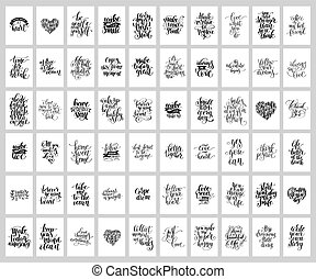 lettering, jogo, mega, positivo, mão, 60, escrito,...