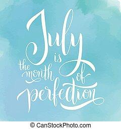 lettering, juli, hallo