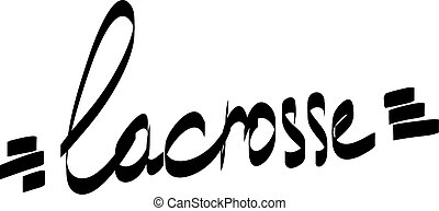 Lettering lacrosse . Vector illustration