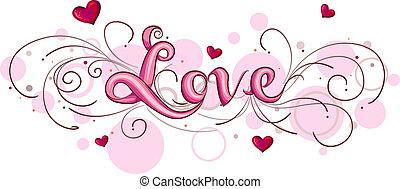 lettering, liefde
