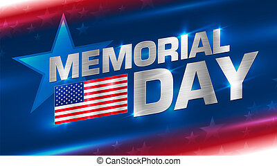 Lettering Memorial Day on the background