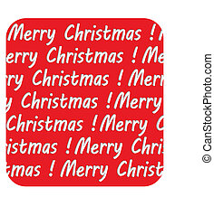 Lettering Merry Christmas inscription, on red background, vector