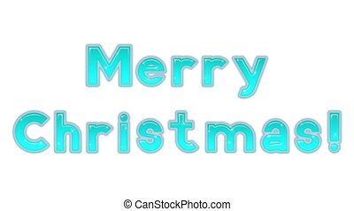Lettering Merry Christmas, Seamless Loop