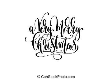 lettering, muito, citação, -, mão, feliz, ganhe, celebração natal