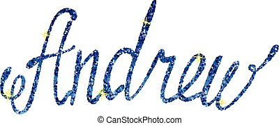 lettering-name-andrew-tinsels
