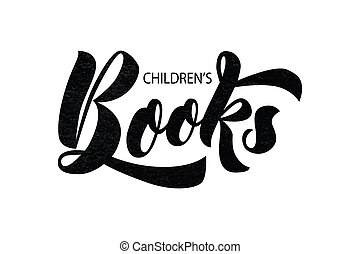lettering of text Children's Books