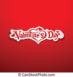 lettering, ontwerp, dag, valentine