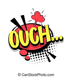 Lettering ouch oops comic text pop art