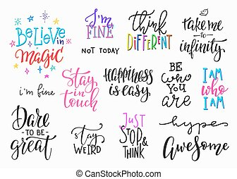 Lettering photography overlay set. Motivational quote. Sweet...