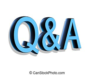 lettering:, q&a, 3d, letras