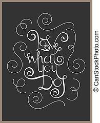 lettering, que, amor, citação, tu, inspiração