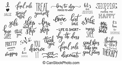 Lettering retail shopping set - Lettering photography...