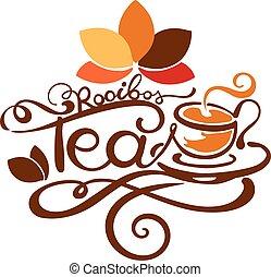 Lettering - Rooibos Tea - good for label, logo, menu ...